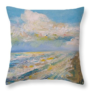 Panama City Beach Throw Pillow