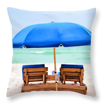 Throw Pillow featuring the photograph Panama City Beach II by Vizual Studio