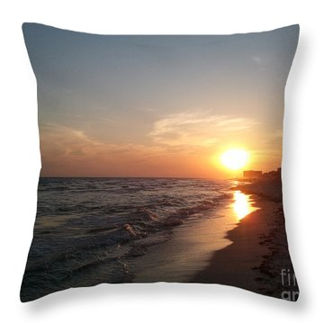 Panama City Beach Sunset Throw Pillow