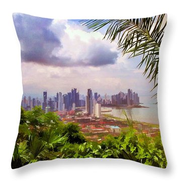 Panama City From Ancon Hill Throw Pillow