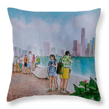 Panama City Panama Throw Pillow