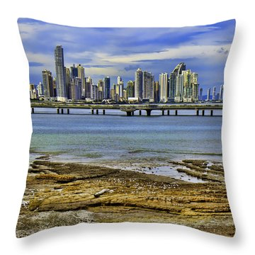Throw Pillow featuring the photograph Panama City by Rob Tullis