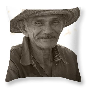 Panamanian Country Man Throw Pillow by Heiko Koehrer-Wagner