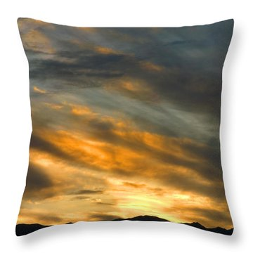 Panamint Sunset Throw Pillow by Joe Schofield