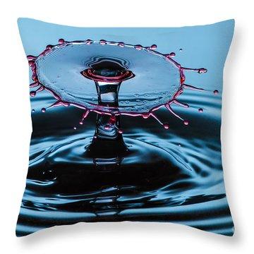 Pancake Water Splash Throw Pillow
