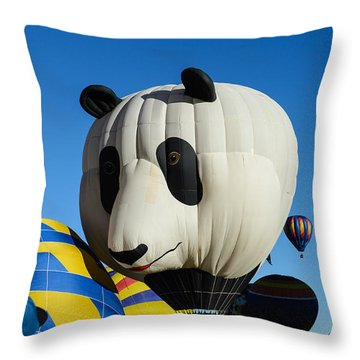 Panda Balloon Throw Pillow