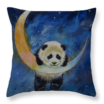 Panda Stars Throw Pillow