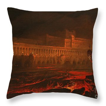 Pandemonium Throw Pillow by John Martin