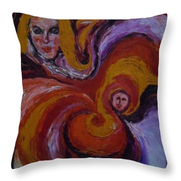 Pandora In 7th Heaven Throw Pillow