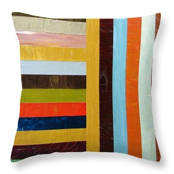 Panel Abstract L Throw Pillow by Michelle Calkins