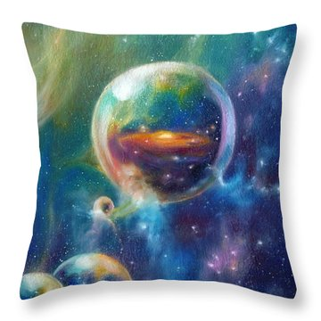 Pangaea Cropped Throw Pillow by Kd Neeley