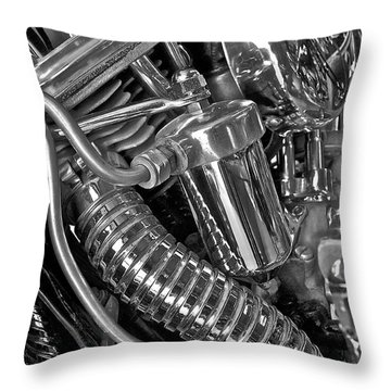 Panhead Poetry Throw Pillow