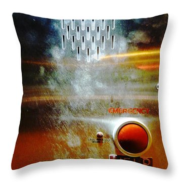 Panic Button Throw Pillow by Lin Haring
