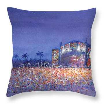 Panic El La Playa Widespread Panic Throw Pillow by David Sockrider