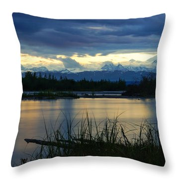 Pano Denali Midnight Sunset Throw Pillow