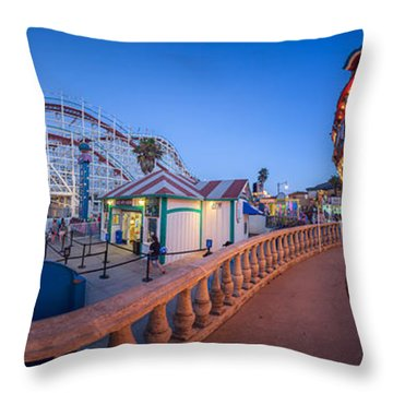 Panorama Giant Dipper Goes 360 Round And Round Throw Pillow