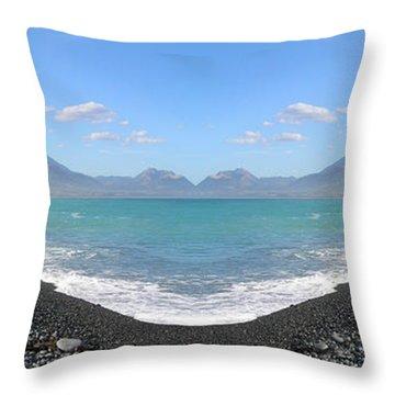 Panorama Lake Throw Pillow