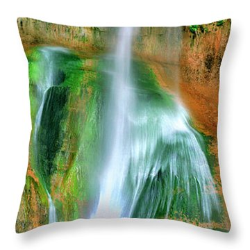 Throw Pillow featuring the photograph Panorama Lower Calf Creek Falls Escalante Nm Utah by Dave Welling
