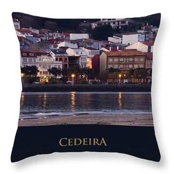 Panorama Of Cedeira Galicia Spain Throw Pillow