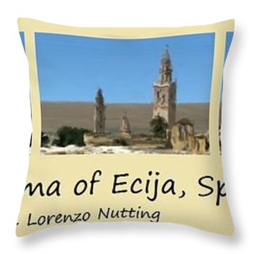 Panorama Of Ecija Spain Throw Pillow