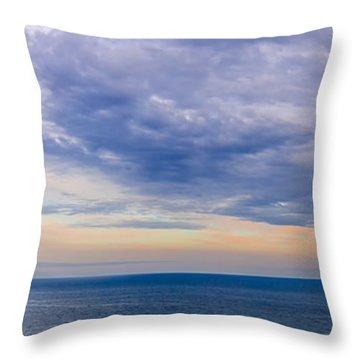 Panorama Of Sky Over Water Throw Pillow