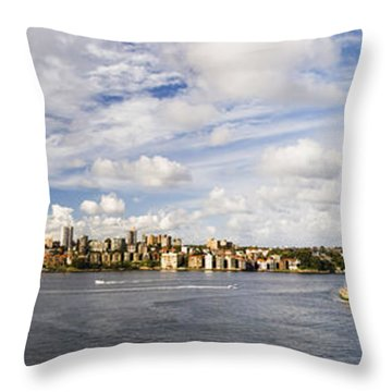 Panorama Of Sydney Harbor Throw Pillow
