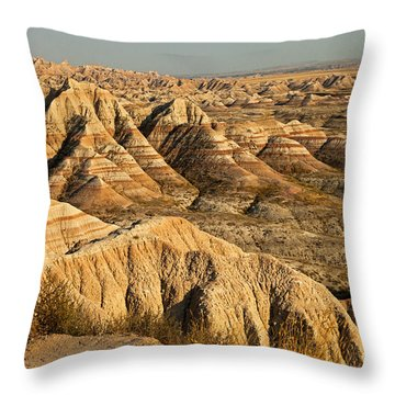 Panorama Point Badlands National Park Throw Pillow