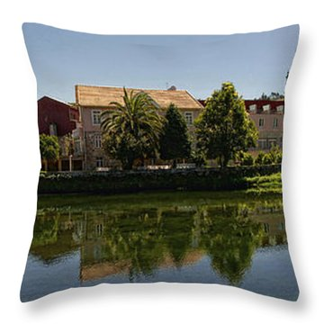 Panoramic Landscape Throw Pillow