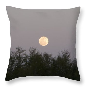 Panoramic New Orleans Moon Rising Throw Pillow by Joseph Baril
