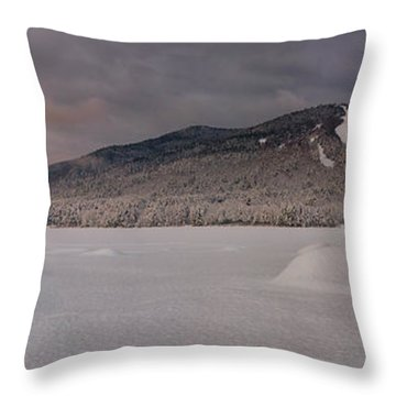 Panoramic Of Shawnee Peak And Moose Pond Throw Pillow