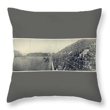 Panoramic Photo Of Harvard  Dartmouth Football Game Throw Pillow