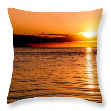 Panoramic Photo Of Sunrise At Monkey Mia Of Australia Throw Pillow