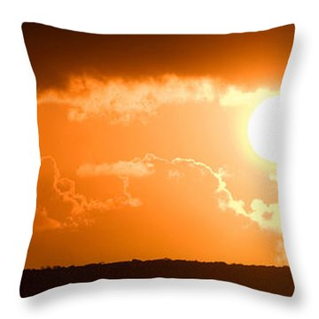 Panoramic Photo Of Sunset At Monkey Mia  Throw Pillow