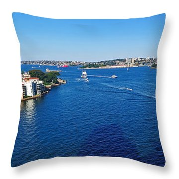 Panoramic Sydney Harbour Throw Pillow by Kaye Menner