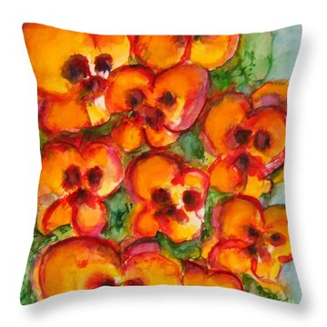 Pansies Love Us Throw Pillow