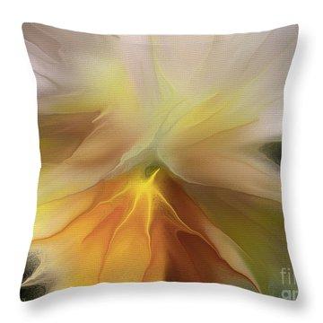 Pansy Art Throw Pillow