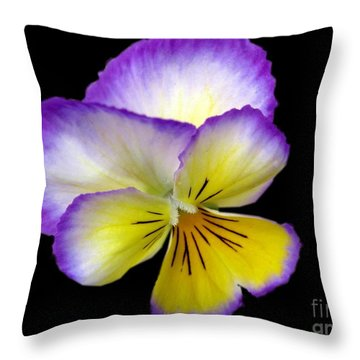 Throw Pillow featuring the photograph Pansy by Carol Sweetwood