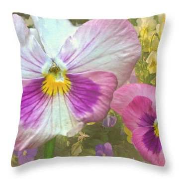 Pansy Duo Throw Pillow by Sandi OReilly