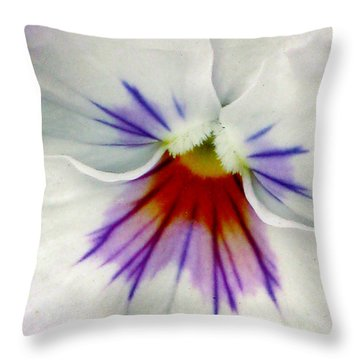 Pansy Flower 11 Throw Pillow by Pamela Critchlow