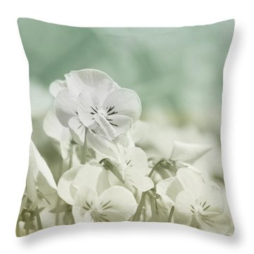 Pansy Flowers Throw Pillow by Kim Hojnacki