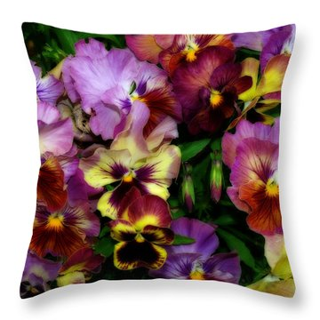 Pansy Mania Throw Pillow
