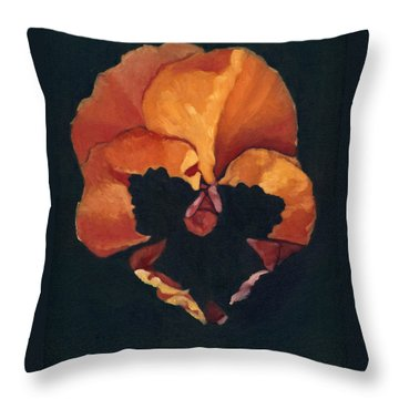 Pansy No.6 Throw Pillow