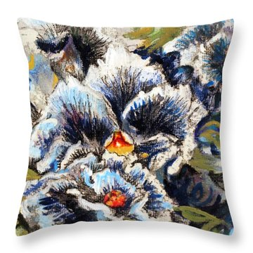 Pansy Patterns Throw Pillow