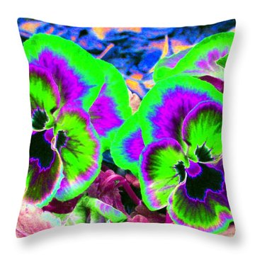 Pansy Power 60 Throw Pillow by Pamela Critchlow