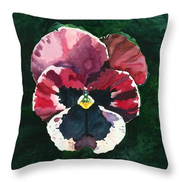 Pansy Red Throw Pillow