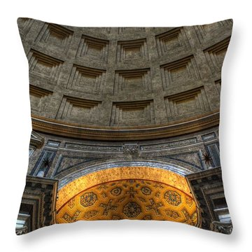 Pantheon Ceiling Detail Throw Pillow