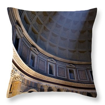 Throw Pillow featuring the photograph Pantheon Interior by Brian Jannsen