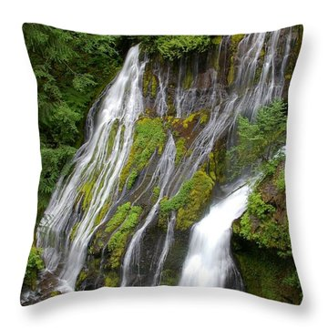 Panther Creek Falls 2- Washington Throw Pillow