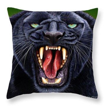 Panther Throw Pillow by Jurek Zamoyski