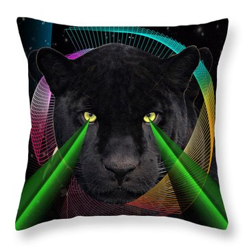 Panther Throw Pillow by Mark Ashkenazi